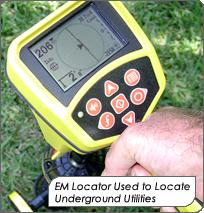 EM Locator used to locate underground utilities.