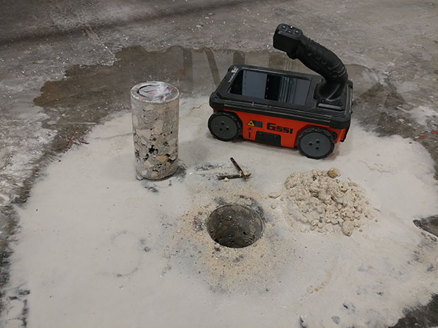Radar Detected Voids in Poorly Consolidated Concrete